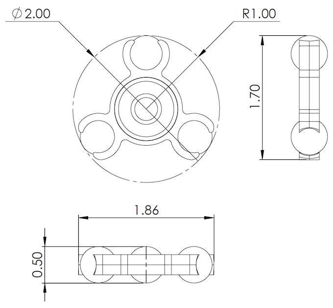 spinners fidget measurements