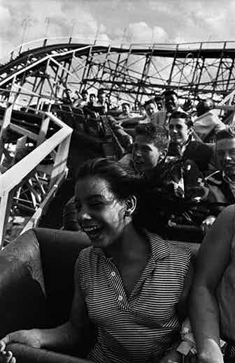 Girl Riding the Cyclone, 1950.
