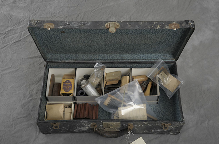 """An image from Jon Crispin's """"Willard Asylum Suitcases"""" photography project."""