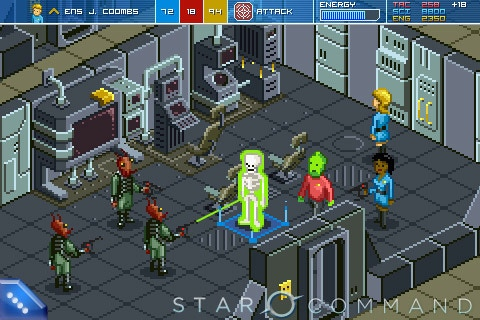 """A screenshot from the Kickstarter-funded video game """"Star Commander."""""""