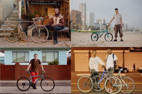 Snapshot montage from Bicycle Portraits.
