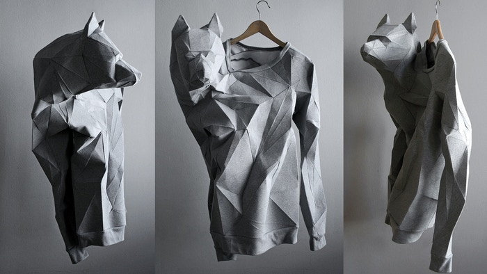 The T-Shirt Issue's patterns reconstructed in a 3D environment