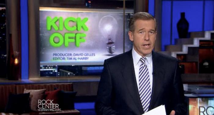 NBC's Brian Williams reports on Kickstarter.
