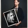 Photographer Mark Seliger showing his iconic portrait of Kurt Cobain.