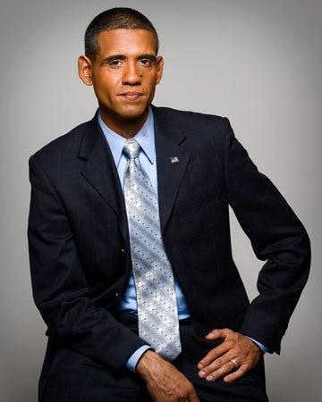 Obama impersonator, Louis Ortiz.
