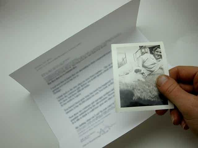 """Alicia Escott's """"Love Letters Sent Sometime Before the Continents Divorced"""" will be presented as part of the Post Haste exhibit."""