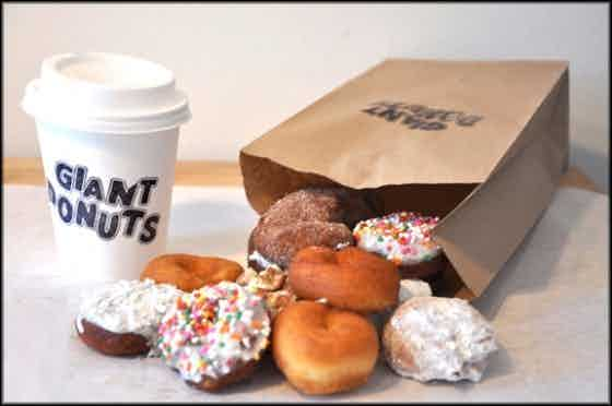 Miniature donuts from Giant Donuts.