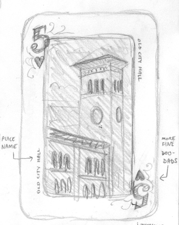 Sketch of Old City Hall by Chandler O'Leary