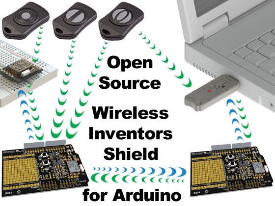 Open source wireless inventors shield for arduino by