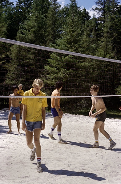 Volleyball Game, Christian Camp, Michigan 1978