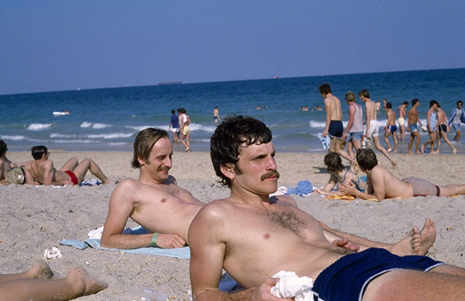 Christian Staff enjoy the Sun, Ft. Lauderdale Beach Evangelism Project, FL 1981