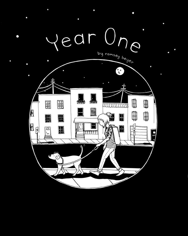 The cover of Year One! (this is offered as silkscreened poster at one of the reward levels!)