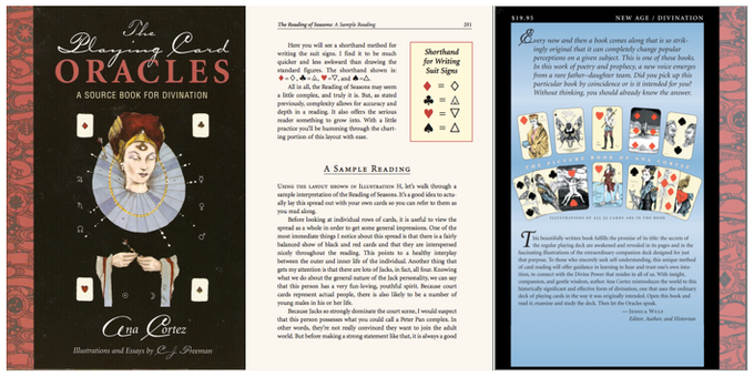 "The book my dad and I completed together, ""The Playing Card Oracles,"" 244 pages. Published by U.S. Games Systems."