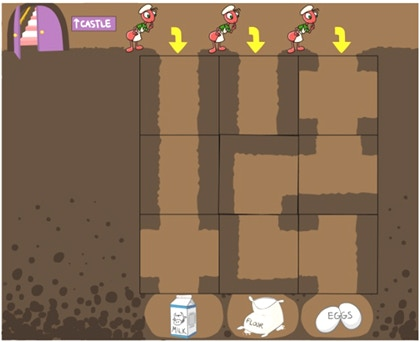 And if you run out of ingredients, no need to stop the ovens!  Just head down to the storage room, and guide the ants through underground maze tunnels to retrieve more flower, eggs and milk.