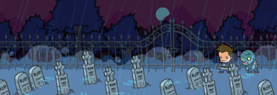 Different areas: Explore the Zombocalypse universe, with each unique area presenting a new challenge and a piece of the story. (Concept Art, not final)