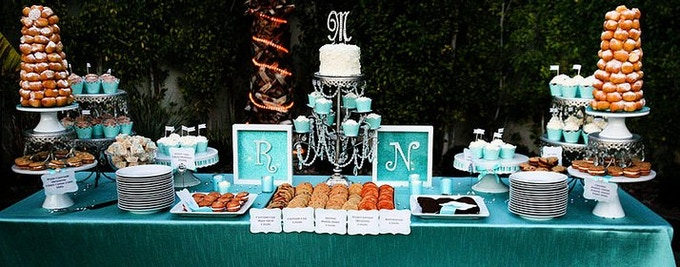 Our first Wedding Dessert Bar - A lot of happy people in Palm Springs that day!