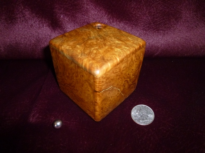 Maple Burl is currently offered in several sizes, a 2 inch maze starting at $50.00 each, a 3 inch maze at $70.00 each. More challenging 3.5 and 5 inch mazes with multiple entrances and exits begin at $125.00 and $300.00 each respectively.