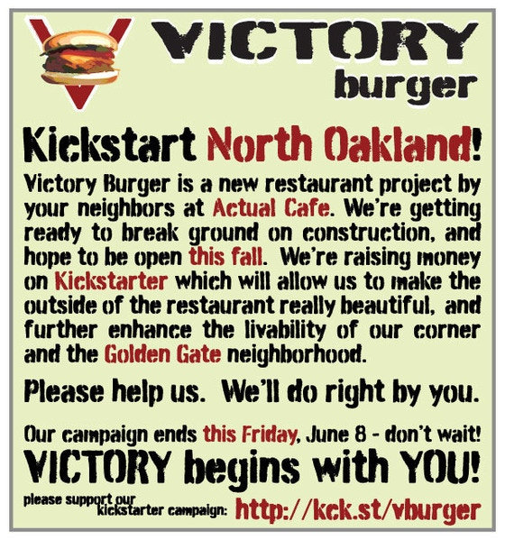 Victory Burger By Sal Bednarz Kickstarter