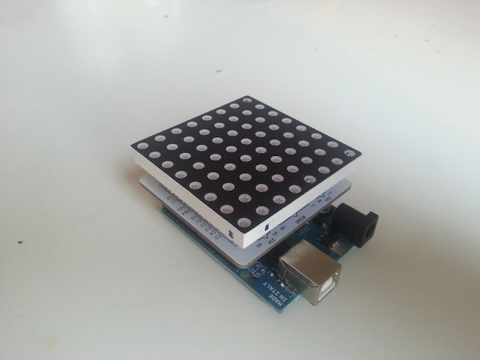 First prototype, L8 V 0.1 with arduino and colorshield