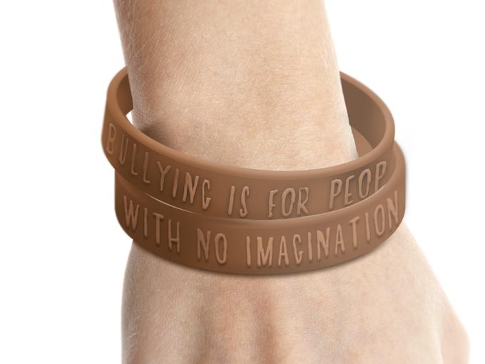 Anti-bullying message Dandelion wristbands!