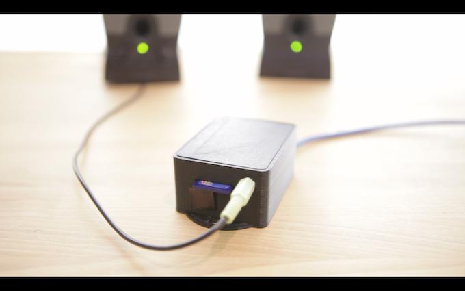 The prototype sound module.
