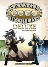 Savage Worlds Deluxe Explorer's Edition. Hardback available now, softback available August 2012!