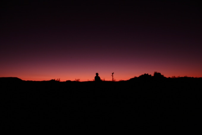 Sunset at Amboy Crater