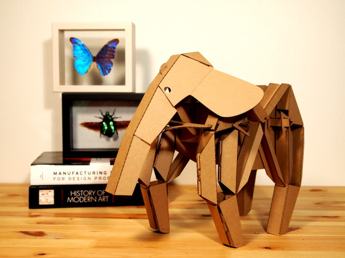 Elly the elephant from Kinetic Creatures.