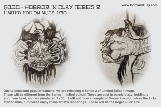 Horror In Clay Series 2 Limited Edition Concept art
