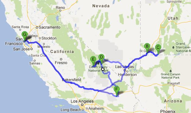 The Dark Sky Tour Route