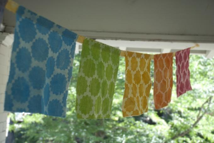 ~ woodblock prints on fabric ~