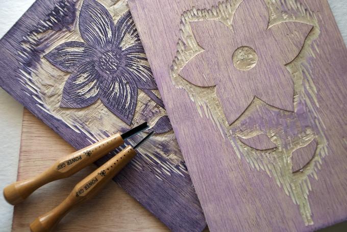 ~ woodblocks and carving tools ~