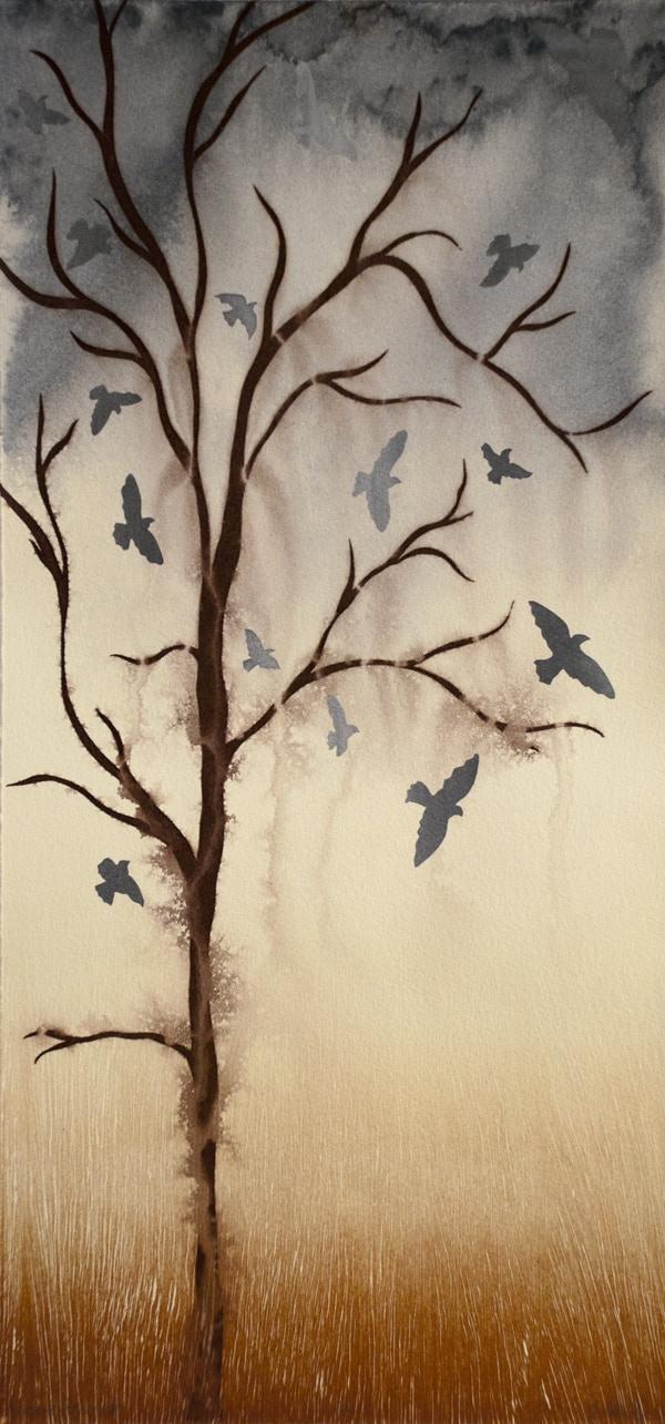 ~ sometimes I like to put a bird on it ~ mixed media screenprint
