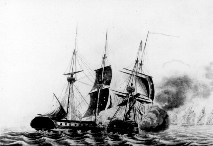 USS Wasp vs HMS Frolic