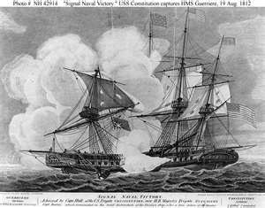 Old Ironsides vs the HMS Gurreierre