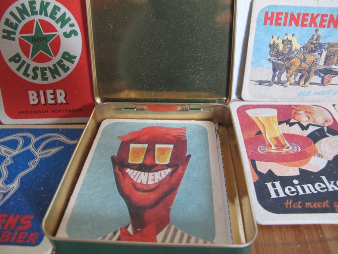 "vintage coasters from The Netherlands to go with MP3 of ""Found sounds in Amsterdam"" (one of the options for $50 limited edition reward)"