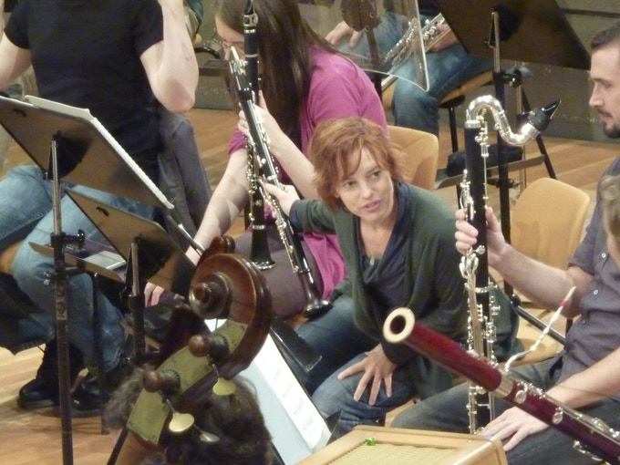 Rehearsal with MusikFabrik, Berlin Philharmonie (2010)