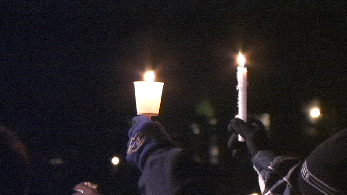 Candlelight vigil to honor victims of child sexual abuse.