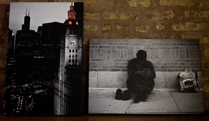 $400 Incentive - Part of the Filmmakers Fan Package, these are 16x20 museum wrapped canvas photographs by director Ryan Ferguson. 'Gotham 3.1' is on the left and 'Asleep' is on the right.