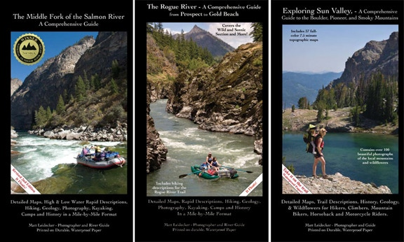 Previous guidebooks by Matt Leidecker/Idaho River Publications
