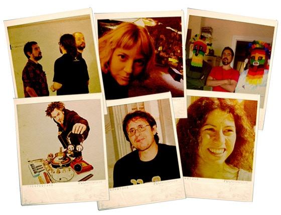Part of our production team: With Julie Reier, Pau Martinez, Sxip Shirey, Bea Bartolomé, Jose Luis Farías and Alfonso Fulgencio.