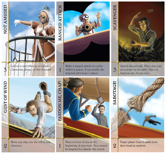 A sampling from the 18 individual cards in Quicksilver