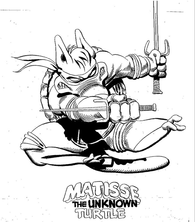 Dave's Contribution to the CEREBUS/Teenage Mutant Ninja Turtles Print