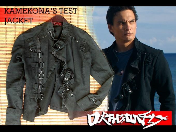 "Kamekona's""Straight"" Jacket.   Used by Kekoa Mitchell for test shooting of DRAGONFLY"