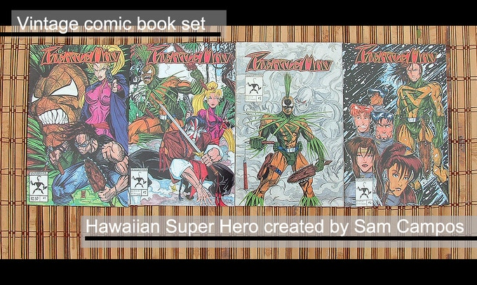Pineapple Man Comic book set, by Sam Campos