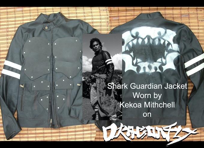 "Screen used Riding Jacket.  Worn by Kekoa Mitchell.  ""Kamekona""  The Shark Guardian"