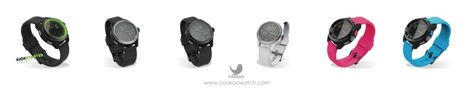 All six available COOKOO watch colors.