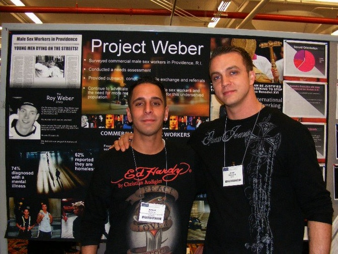 Project Weber founders Rich Holcomb (left) and James Waterman (right) continue to fight for human services for the male sex worker population