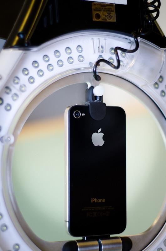 BLACK LEDock™ with Black iPhone 4