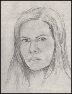 Here's and example of a graphite portrait on sketch paper